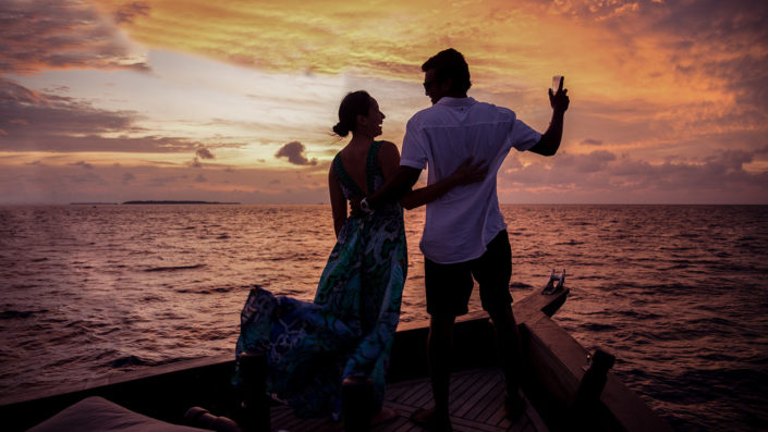 Romantic luxury sunset cruise Maldives