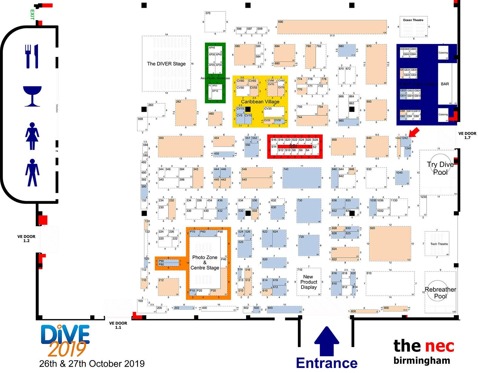 Dive 2019 Floor plan
